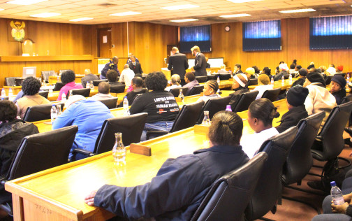 Photo: Court G, Bloemfontein High Court. 94 accused. One courtroom.