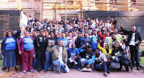 The struggle continues: The 94 Accused Community Health Care Workers outside the Bloemfontein High Court