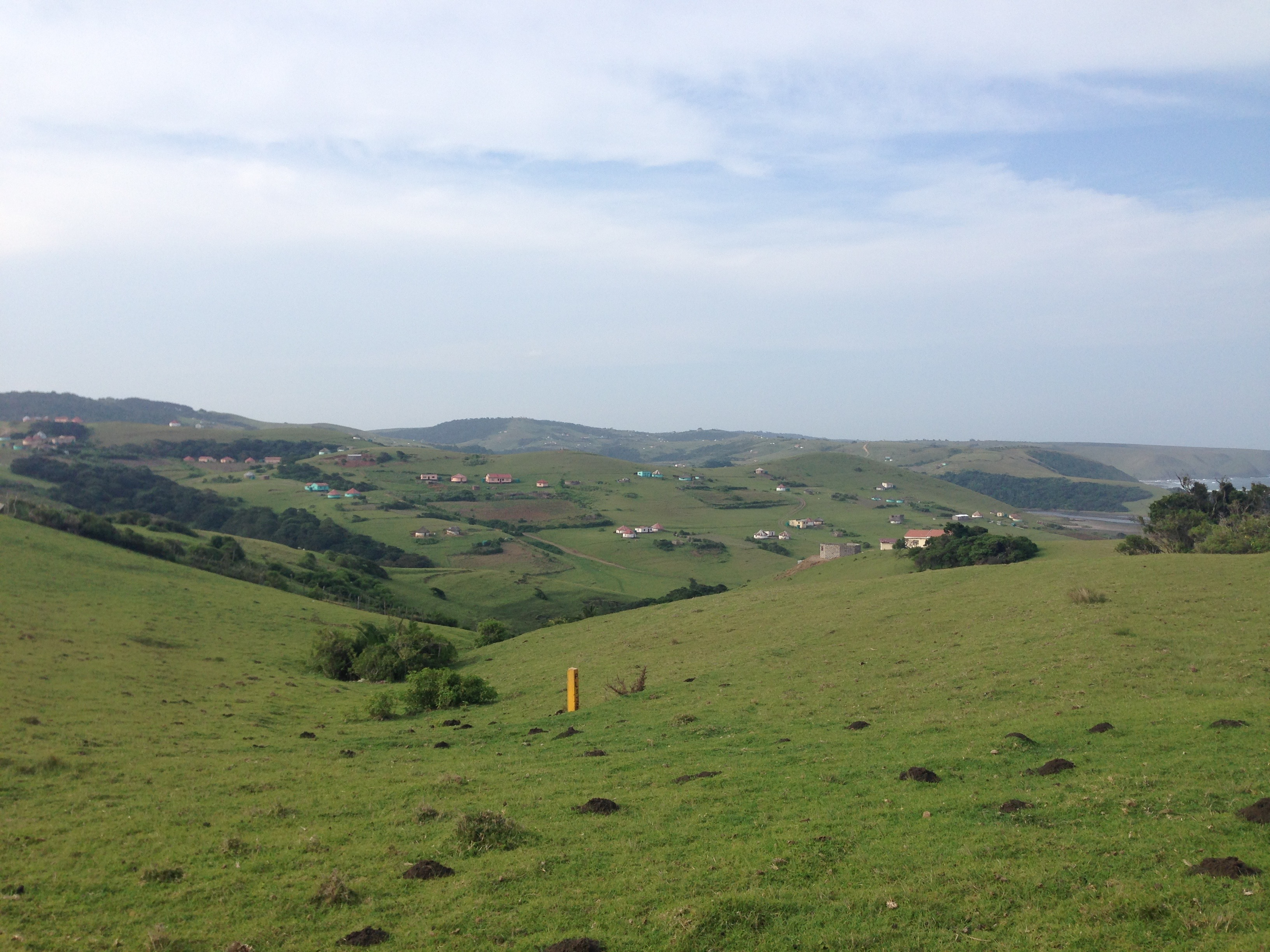 Coming from Nqileni Village, we start the walk over the hills and through the valleys towards the clinic.