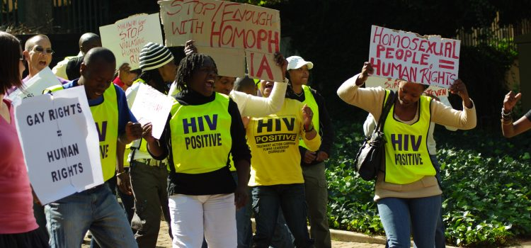 SECTION27 protests against conviction of Steven Monjeza and Tiwonge Chimbalanga