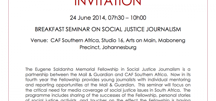 SECTION27 to co-host social justice journalism breakfast seminar