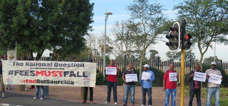 GroundUp: Dismissed security guards demonstrate outside UWC