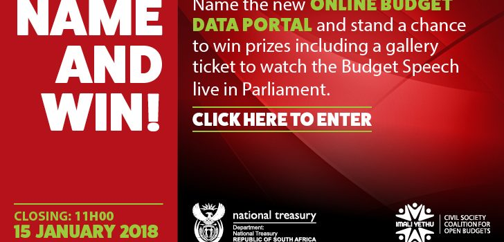 Win a chance to attend the 2018 Budget Speech
