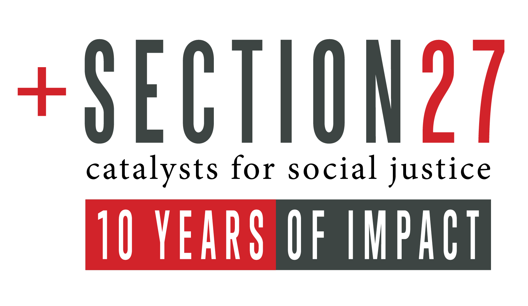 SECTION27, logo, 10 year logo