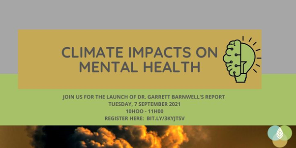 """Climate change will have """"profound adverse mental health implications"""" for those living in South Africa"""